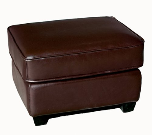 Affordable Ottomans: Cheap Ottomans And Footstools Rating & Review: Baxton Studio Full Leather Ottoman/Footstool