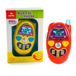 childrens PLAY & LEARN MUSICAL PHONE with realistic phone sounds, music & lights for age 18 month and up