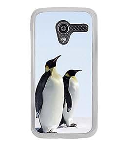 Penguins Pair 2D Hard Polycarbonate Designer Back Case Cover for Motorola Moto X :: Motorola Moto XT1052 XT1058 XT1053 XT1056 XT1060 XT1055