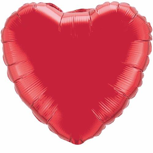 "36"" Heart Foil Mylar Balloon Ruby Red"