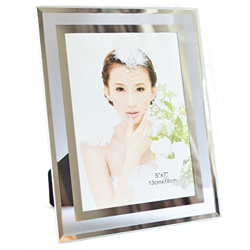 Gift garden 5 by 7 -Inch in Picture Frame for 5x7 Photo Display (Mirror Frame compare prices)