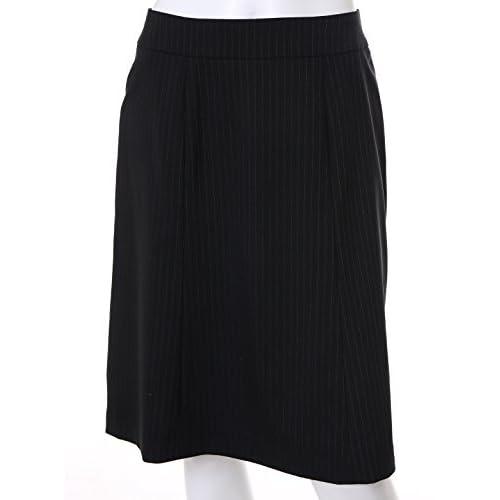 (エフデ)ef-de シルク混ストライプ柄スカート ブラック 09