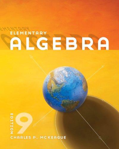 Bundle: Elementary Algebra, 9th + Student Solutions Manual