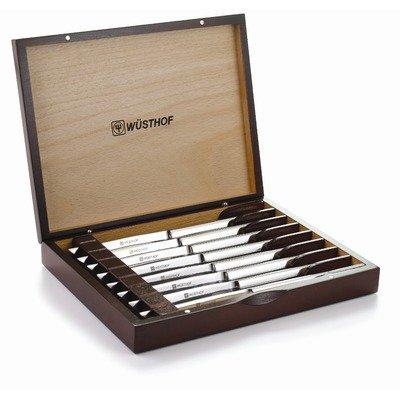 Eight Piece Steak Knife Set In Rosewood Box