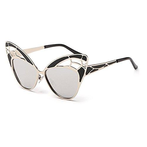 Gray Memory Lady Fashion Personality Metal Butterfuly Sunglasses(K3