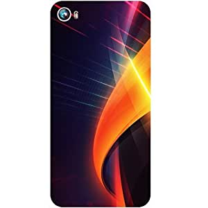 Casotec Digital Layers Design Hard Back Case Cover for Micromax Canvas Fire 4 A107