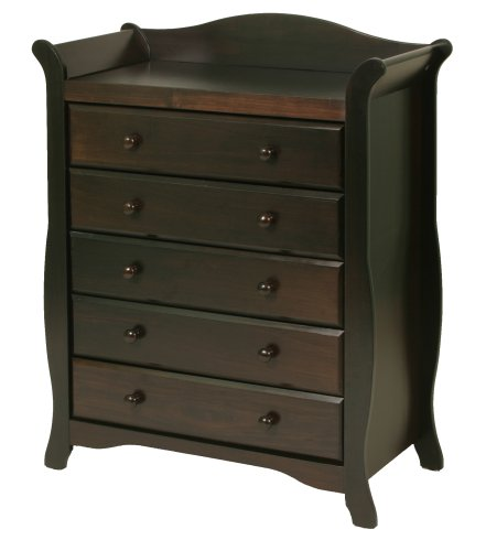 Stork Craft Aspen 5 Drawer Chest, Espresso