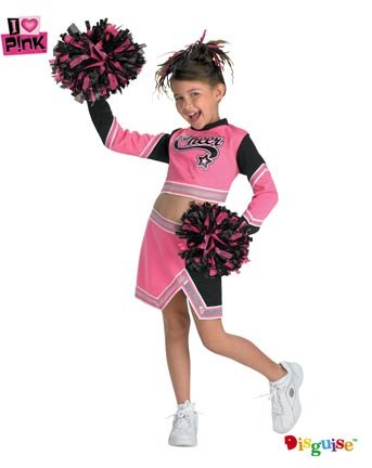 Go Team Pink Costume: Girl's Size 4-6