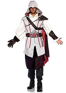 Leg Avenue Men's Assassin's Creed 8 Piece Ezio Costume Cosplay, Grey, X-Large