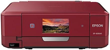 EPSON プリンター インクジェット複合機 Colorio EP-808AR 無線LAN Wi-Fi Direct スマートフォンプリント レッド