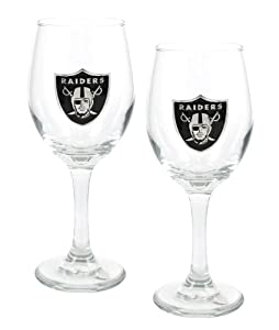 NFL 14-Ounce Wine Glass (Set of Two) by Great American Products
