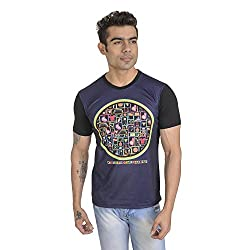 Total Footbal Mashup Poly Cotton T-Shirt For Men (Size: Extra Large)