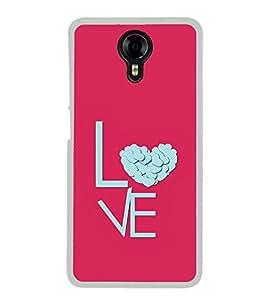 Love Heart 2D Hard Polycarbonate Designer Back Case Cover for Micromax Canvas Xpress 2 E313