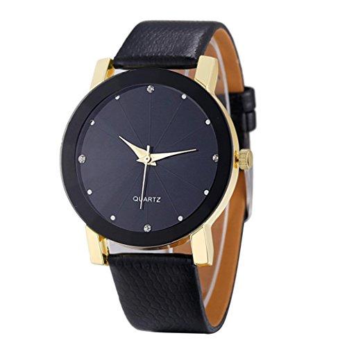 FEITONG acciaio inossidabile di sport militare di lusso al quarzo quadrante orologio cinturino in pelle (d'oro)