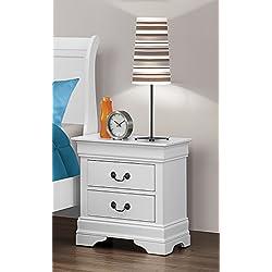 Coaster Home Furnishings 204692 Traditional Nightstand, White