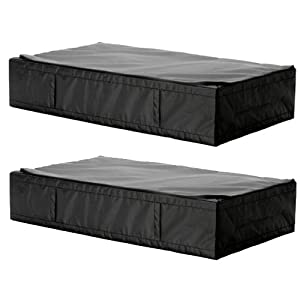2 ikea skubb black underbed storage