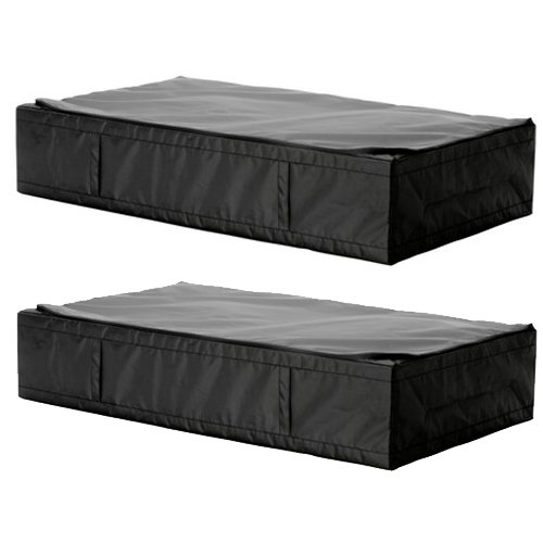 2 Ikea Skubb Black Underbed Storage Case  sc 1 st  Under Bed Organizer Storage Boxes Features Shoe Storage with Cedar ... & Best Review 2 Ikea Skubb Black Underbed Storage Case - Save off ...