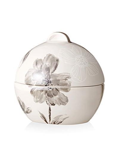Creative Bath Opaline Jar, Black/White