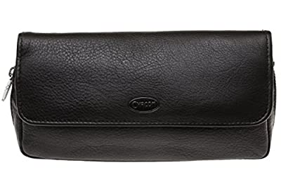 Chacom Two Pipe And Tobacco Pouch - Black