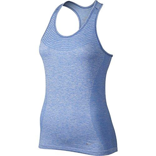 Nike Women's Dri-FIT Knit Running Tank Top (Chalk Blue, Medium)
