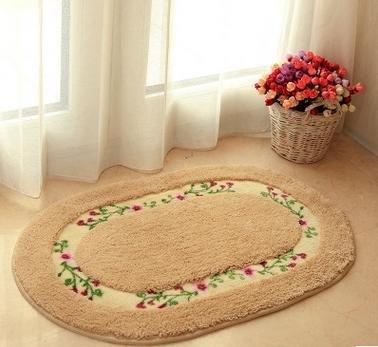 C & H/Oval Cute Teppich Badematte Schlafzimmer Watergate Pad Fenster Mats 5 von XUTONGK auf Gartenmöbel von Du und Dein Garten