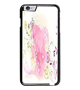 PrintDhaba Heart D-2122 Back Case Cover for APPLE IPHONE 6 (Multi-Coloured)
