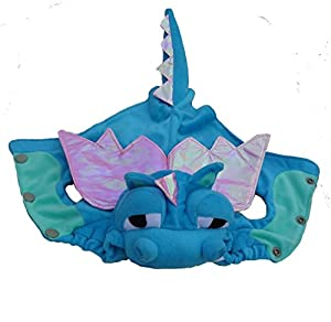 PetBoBo Pet Dog Cat Halloween Costume Dragon Dinosaur Costume Cotton Tidy Costume for Cats Dogs Pet Dress Up Costume Cat Funny Apperal