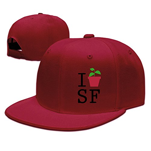 fadah-i-plant-sf-custom-unisex-adjustable-golf-baseball-snapback-hip-hop-cap-hat-red