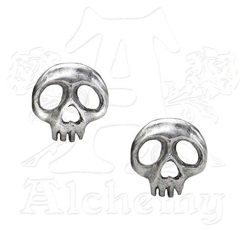 Alchemy Gothic Skully Coppia di Orecchini