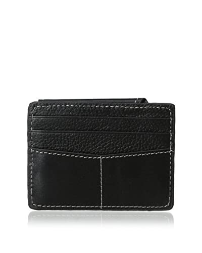 J. FOLD Men's L.Master Magnetic Card Wallet, Black, One Size