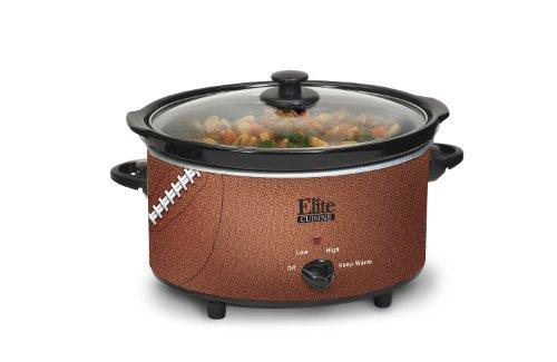 Elite Cuisine Mst-600Fb Maximatic Football Slow Cooker, 6-Quart