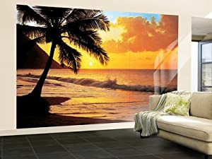 Pacific sunset beach photo wallpaper wall mural for Amazon mural wallpaper