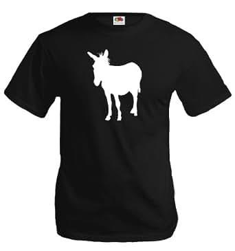 T-Shirt Esel-S-Black-White