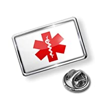 Pin Medical Alert Red Hospital Logo - Lapel Badge - NEONBLOND from NEONBLOND