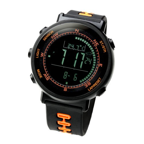 Sun Records Watches sale: [Lad Weather] Swiss Sensor Running Chronograph Outdoor Digital Compass Altimeter Sports Watches Weather Forecast Climbing Walking Barometer Thermometer Men's