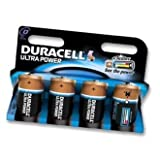 Duracell 5.00E+12 Battery- ULTRA POWER ALKALINE D 4PK - Pack of 4