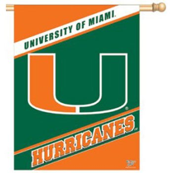 Wincraft Miami Florida Hurricanes 27x37 Vertical Flag