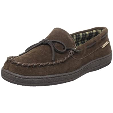 Hideaways by L.B. Evans Men's Marion Moccassin,Chocolate,8 M US