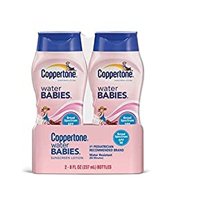 Coppertone Water Babies Sunscreen Lotion, SPF 50, 8 fl oz, 2-Pack