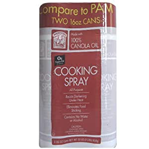 Bakers & Chefs All Purpose Cooking Spray, Kosher, 2 - 16 oz. Cans