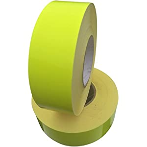 Fluorescent Reflective Tape Yellow 50mm X 5M - Weatherproof Strong