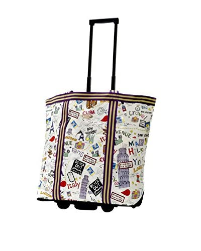 Olympia Luggage Cosmopolitan Rolling Shopper Tote, City