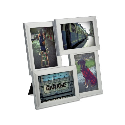 Umbra Pane 4-Opening Desktop Collage Frame, 4x6, Nickel (Table Top Picture Frames compare prices)