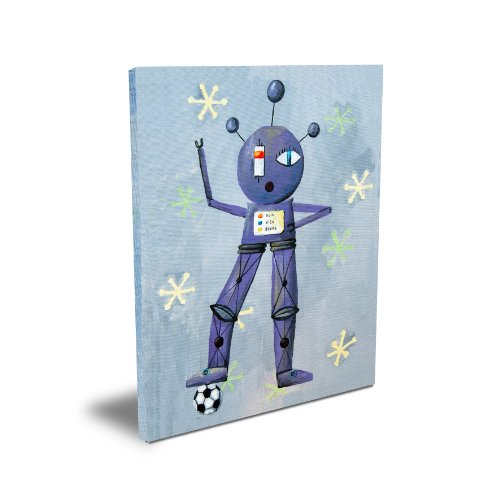 "Cici Art Factory 11""x 14"" Newton Loves Soccer, Canvas"