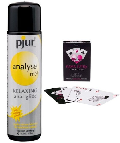 Pjur Analyse Me Anal Relaxing Lube Glide 100ml Lubricant HE22495 Gel Cream New + Comes With Kama Sutra Playing Cards