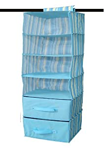 Coupon For Hanging Closet Organizer With 2 Collapsible Drawers (48 602 Blue)