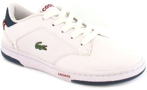 New Boys/Childrens White Lacoste Trainers, Lacoste Logo To Sidewall - White - UK 10-1.5