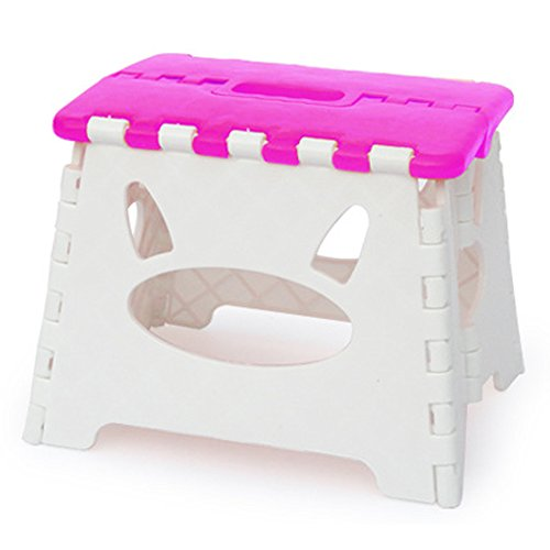 Homep Kids Foldable Step Stools Pink Pet Bed Cat