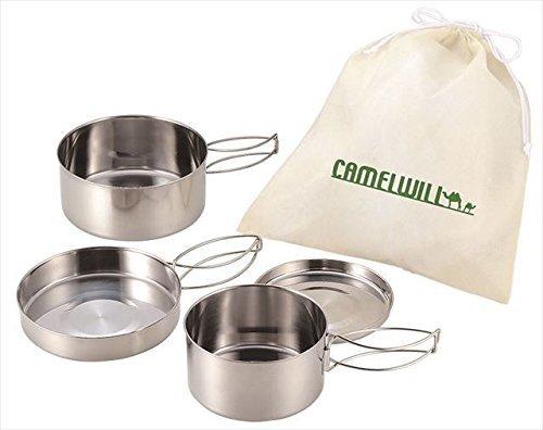 pot-de-camping-set-avec-sac-2-pots-2-frypans-2-couvercles-1-sac-kakusee-cw-300-en-provenance-du-japo
