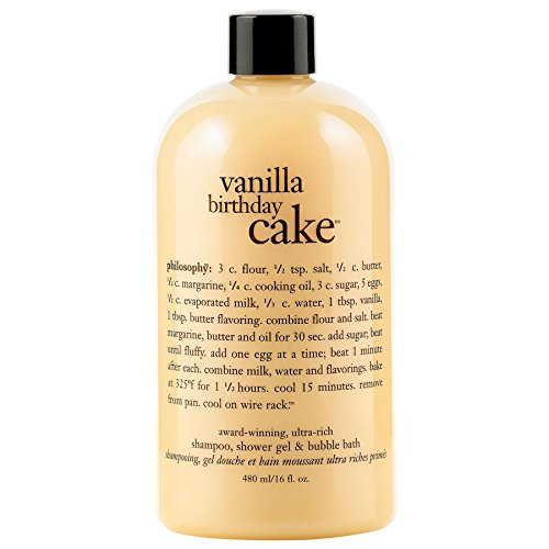Philosophy Vaniglia Shampoo Torta Di Compleanno / Gel Doccia / Bagno Schiuma 480ml